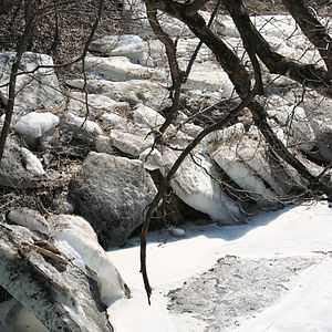 Zumbro River - Ice on the Zumbro in March