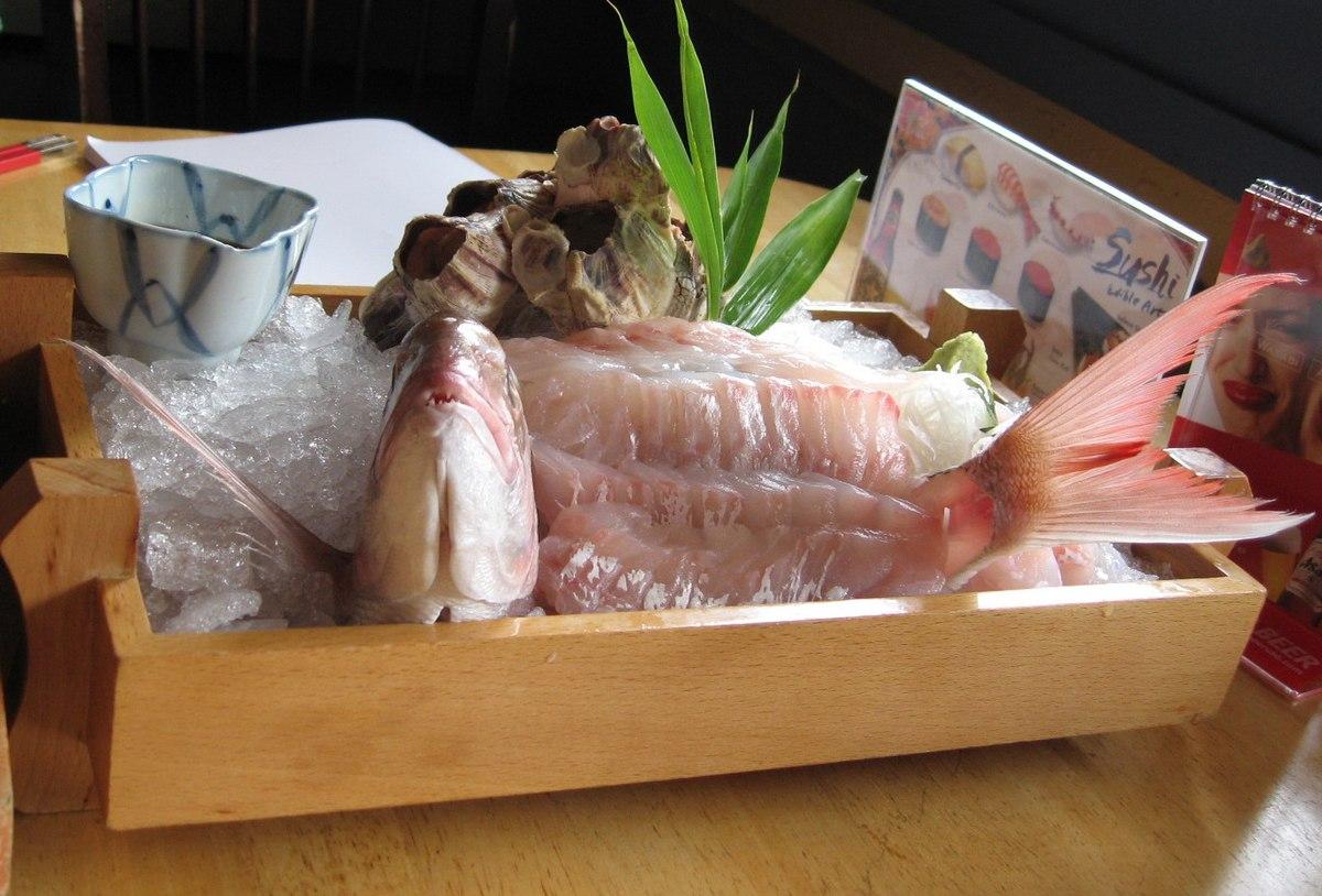 Ikizuri, ikan segar yang diolah dan dikonsumsi dalam keadaan hidup