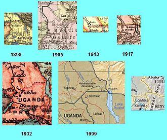 Ilemi Triangle - The Ilemi Triangle in different maps