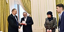 Ilham Aliyev met with family members of National Hero of Azerbaijan Chingiz Gurbanov.jpg