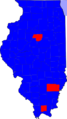 Illinois Senatorial Election Results by county, 2008.png