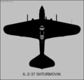 Ilushin Il-2-37 top-view silhouette.png