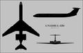 Ilyushin Il-62M Classic three-view silhouette.png