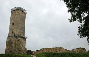 Blick von Osten auf den Hauptturm