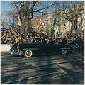 Inaugural Parade. President and First Lady in Limousine, spectators. Washington, D.C., Pennsylvania Ave. - NARA - 194223.jpg