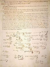 Acta de Independencia de México