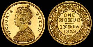 Mohur gold coin