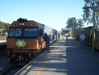 Adelaide Parklands Terminal - Image: Indian Pacific adelaide