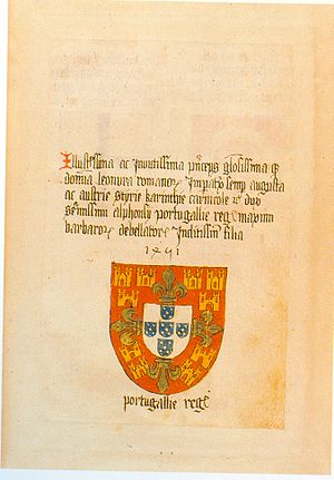Coat of arms of Portugal - Image: Ingeram Codex 036