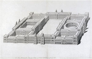 Palace of Whitehall - Inigo Jones's plan, dated 1638, for a new palace at Whitehall.