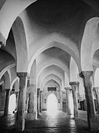 Sixty Dome Mosque - Inside of the mosque
