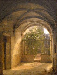 <i>Monastery Interior</i> painting by François Fleury-Richard
