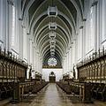 Interieur, overzicht van de abdijkerk richting de zangtribune - Berkel-Enschot - 20385385 - RCE.jpg