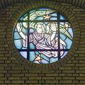 Interieur, rondvenster met glas-in-lood - Geleen - 20322143 - RCE.jpg