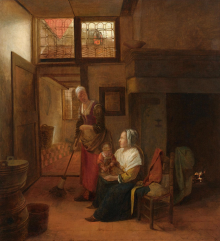 Interior with a Mother and Child and a Servant c.1656 Interior with a Mother and Child and a Servant.png