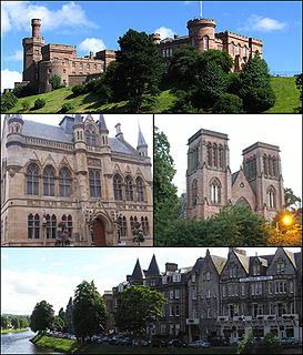 Inverness City in the Scottish Highlands, Scotland