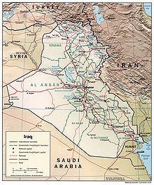 Outline Of Iraq Wikipedia - Iraq map outline