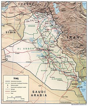 An enlargeable relief map of Iraq