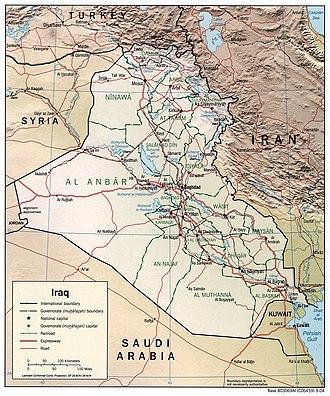 Royal Rifle Volunteers - 2004 CIA Map of Iraq