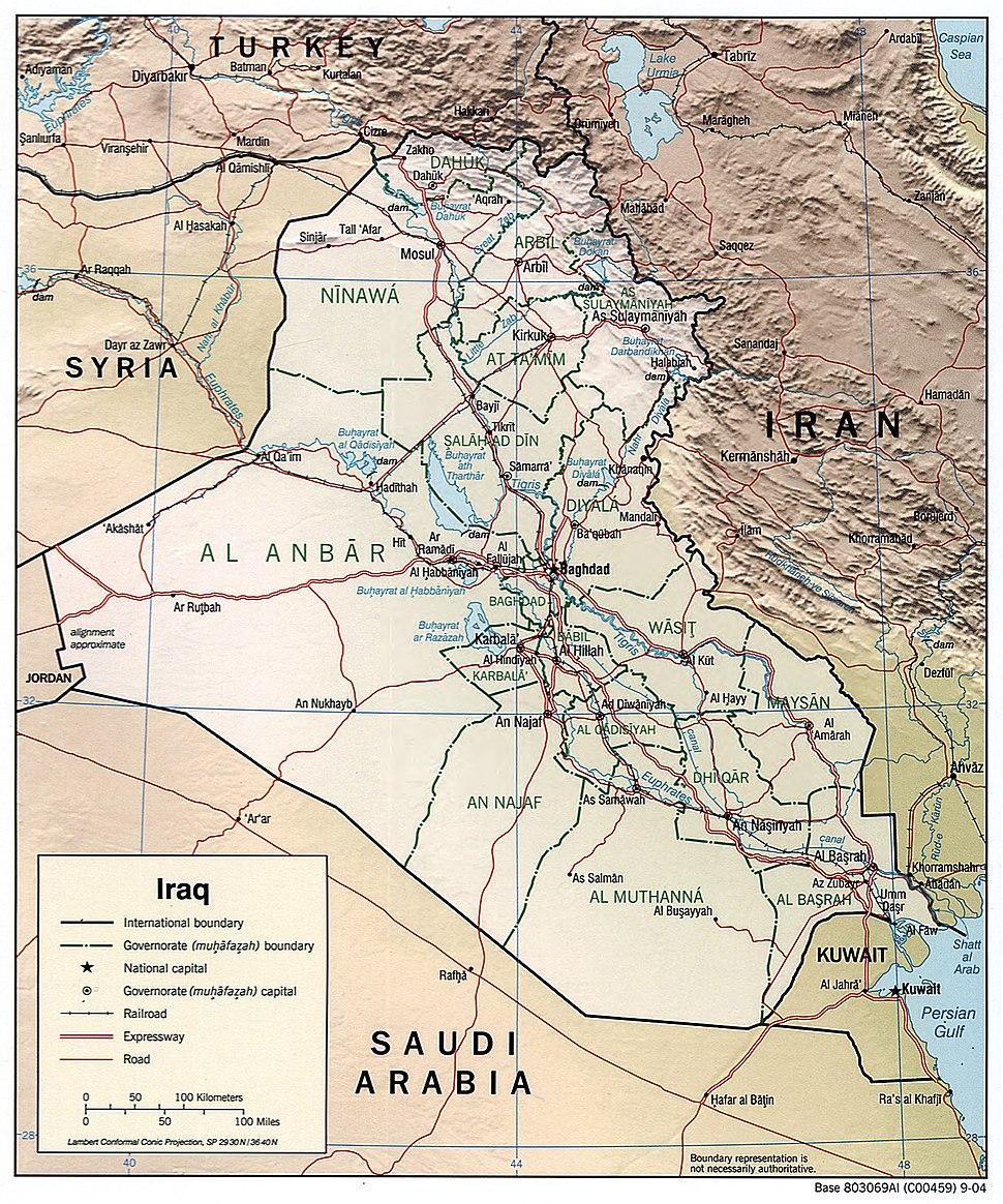 Iraq 2004 CIA map