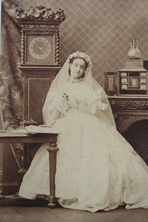 Adelina Patti - Adelina Patti as Lucia di Lammermoor, 1860s, by Camille Silvy