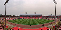 The photo is the upgraded stadium of football club JFC