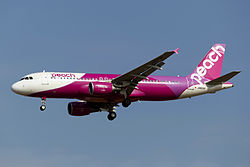 Airbus A320-200 der Peach Aviation
