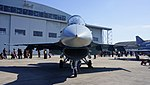 JASDF F-2A(93-8550) front view at Komaki Air Base February 23, 2014.jpg