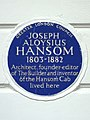 JOSEPH ALOYSIUS HANSOM 1803-1882 Architect, founder-editor of 'The Builder' and inventor of the Hansom Cab lived here.jpg