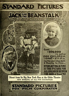 <i>Jack and the Beanstalk</i> (1917 film) 1917 film by Chester M. Franklin