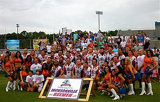 Jacksonville Axemen - Post match Jacksonville Axemen celebrations in 2008