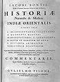 Jacob de Bondt, Historiae naturalis ... Wellcome L0028951.jpg