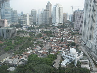 Tanah Abang District in Central Jakarta Administrative City, Indonesia