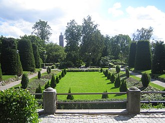 Jakobstad - The Skolparken botanical garden in Jakobstad