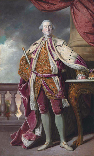 James Hay, 15th Earl of Erroll - James Hay (1726-1778), 15th Earl of Erroll by Joshua Reynolds, in coronation robes, holding the baton of Lord High Constable of Scotland