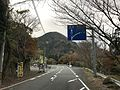 Japan National Route 500 near Bronze torii of Hikosan Shrine.jpg