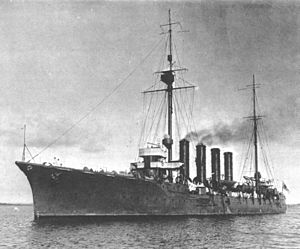 15 cm/45 41st Year Type - Image: Japanese cruiser Hirado in Auckland 1912