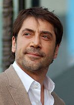 Photo of Javier Bardem at the unveiling ceremony of for his star on the Hollywood Walk of Fame in 2012