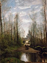 Jean-Baptiste Camille Corot: The Church in Marissel
