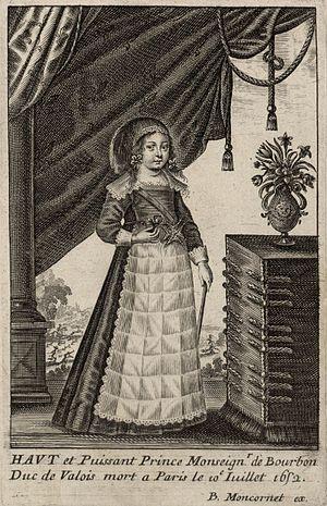 Jean Gaston, Duke of Valois - An engraving of Jean Gaston