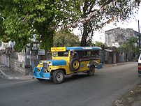 A colourfull jeepney in Quezon City on the cro...