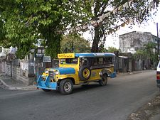 A colorful jeepney