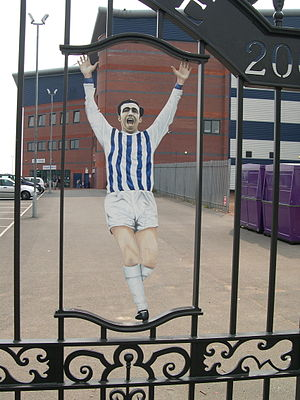 The Hawthorns - The Jeff Astle gates were erected in 2003.