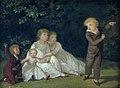 Jens Juel - The Artist's Five Children in a garden. Study - KMS1765 - Statens Museum for Kunst.jpg