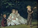 Jens Juel - The Artist's Five Children in a garden. Study - KMS1765 - Statens Museum for Kunst.jpg