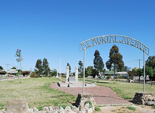 Jeparit Memorial Avenue