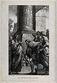 Jesus calls Matthew from among the businessmen of Capernaum. Wellcome V0034720.jpg