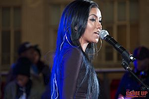Jhené Aiko - Aiko performing at The Manifesto Year 7 Live at The Square on September 22, 2013 in Toronto, Canada.