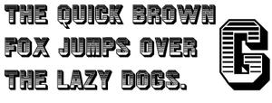Jim Crow (typeface) - Jim Crow sample text