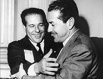 Leonel Brizola - Brizola (right) with his brother-in-law President João Goulart in early 1960s.